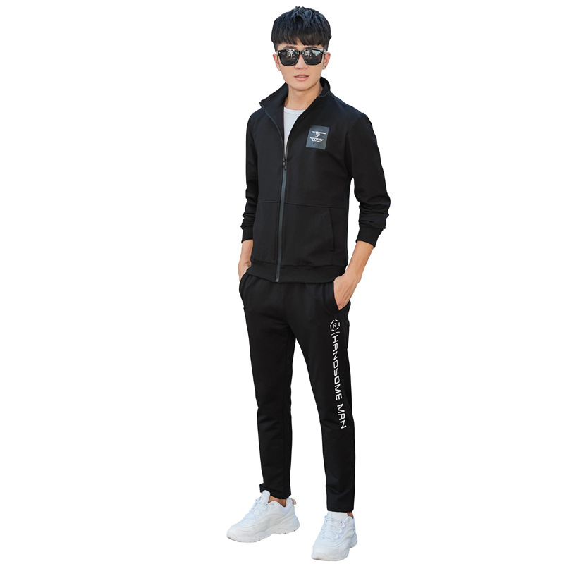 2018 Sports Set Men's Spring And Autumn Sports Clothing Men's Casual Set Running Fitness Sports Clothing Two-Piece Set
