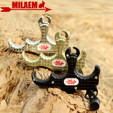 1pc Archery Compound Bow Release Tigger Automatic Aid 3 Finger Grip Thumb Caliper Shooting Hunting Training Accessories