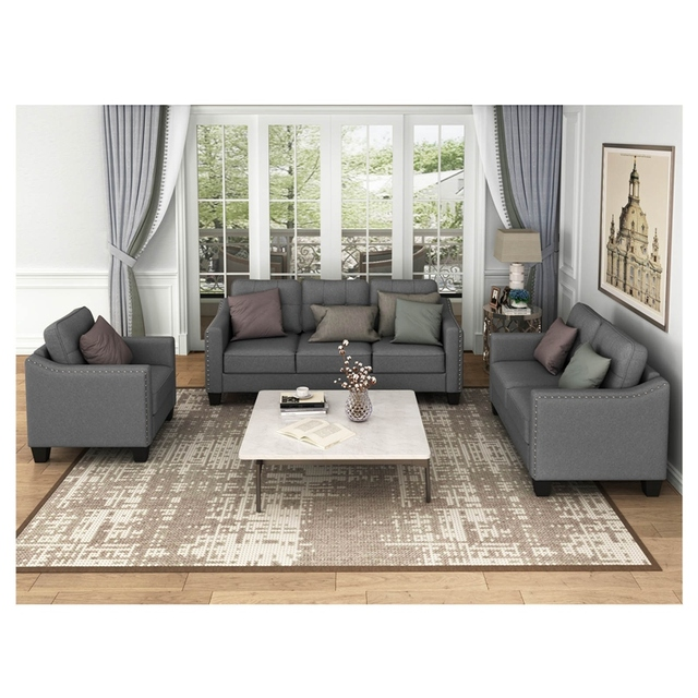Living Room Set, 1 Sofa, 1 Loveseat And 1 Armchair  2