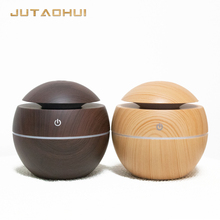 mini 001 usb Air Humidifier Wood Grain Aroma Diffuse Desk Humidificador decoration Essential Oil Mist Maker LED Light for Home