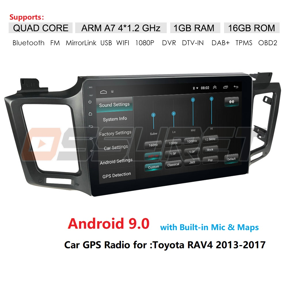 2 Din Android 9 Car NODVD Player For Toyota RAV 4 2013 2014 2015 2016 2017 10.1