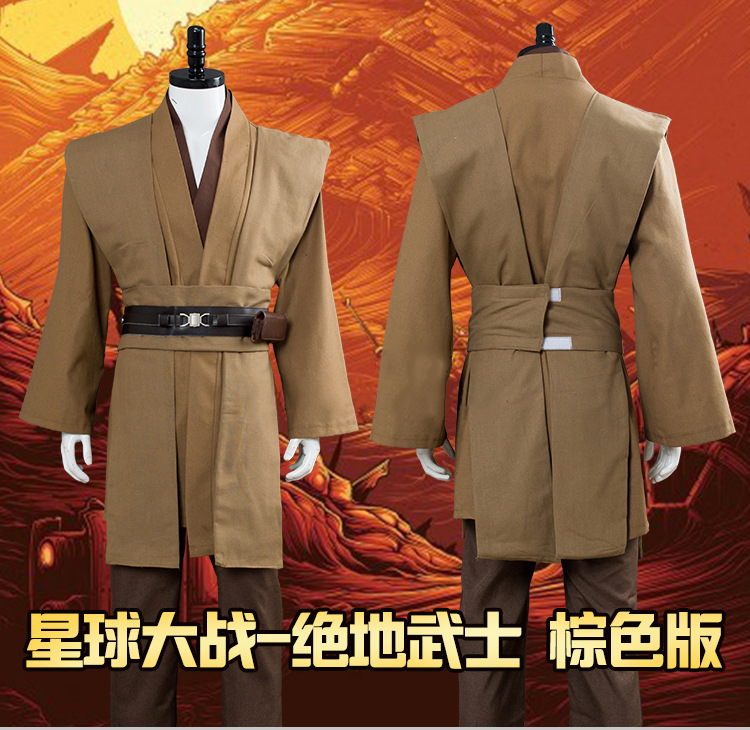 Movie Star Wars Jedi Knight Anakin Skywalker Cosplay Costume Halloween Adult Men Medieval Robe Costume Jedi Knight Full Uniform
