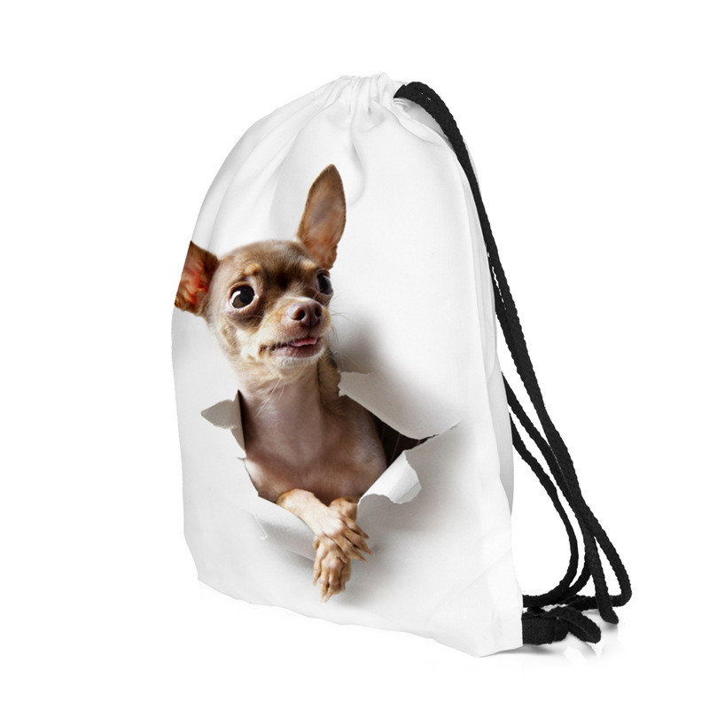 Bag Women Backpack Drawstring 3D Printing Alpaca Men Daily Casual Girl's Mochila  Pocket Rope Bags Women's Shoulder Bag New