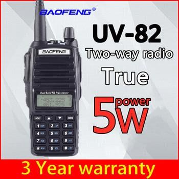 BaoFeng UV-82 5w Walkie Talkie Dual Band VHF/UHF Two Way Radio Double PTT Portable Radio Amateur Radio BAOFENG UV82 5W Hunting 100% original uv b6 dual band vhf uhf 5w 99 channels two way radio baofeng portable uv b6