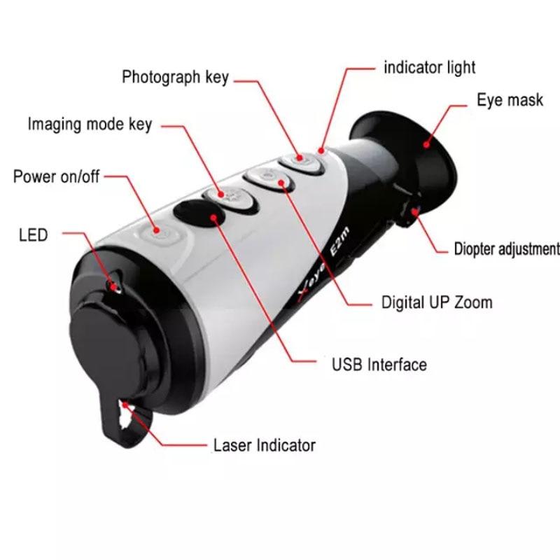 X infrarouge E2m imagerie thermique infrarouge Laser positionnement thermique Vision nocturne numérique monoculaire portable dispositif de chasse en plein air - 4