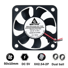 Gdstime 50mm 50x10mm 5cm 2inch 5V Cooling Fan 2Pin Double ball bearing brushless PC Cooling Cooler Fan sunon2 5cm ec0510b2 q01u g99 2515 5v 0 2w cooling fan