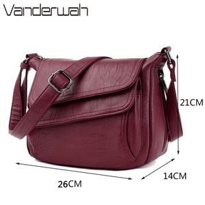 Image 4 - Hot Winter Style Bag Leather Luxury Handbags Women Bags Designer Women Shoulder Messenger Bags For Women 2020 Sac A Main Femme