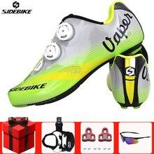 Sidebike/велосипедная обувь из углеродного волокна для шоссейного велосипеда, комплект с педалью, мужские профессиональные велосипедные кроссовки sapatilha ciclismo