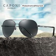 CAPONI Pilot Sunglasses Men Polarized Photochromic Vintage S