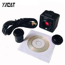 5MP CMOS USB 현미경 카메라 디지털 전자 접안 렌즈 무료 드라이버 HD 산업용 카메라 현미경 쌍안 Trinocular