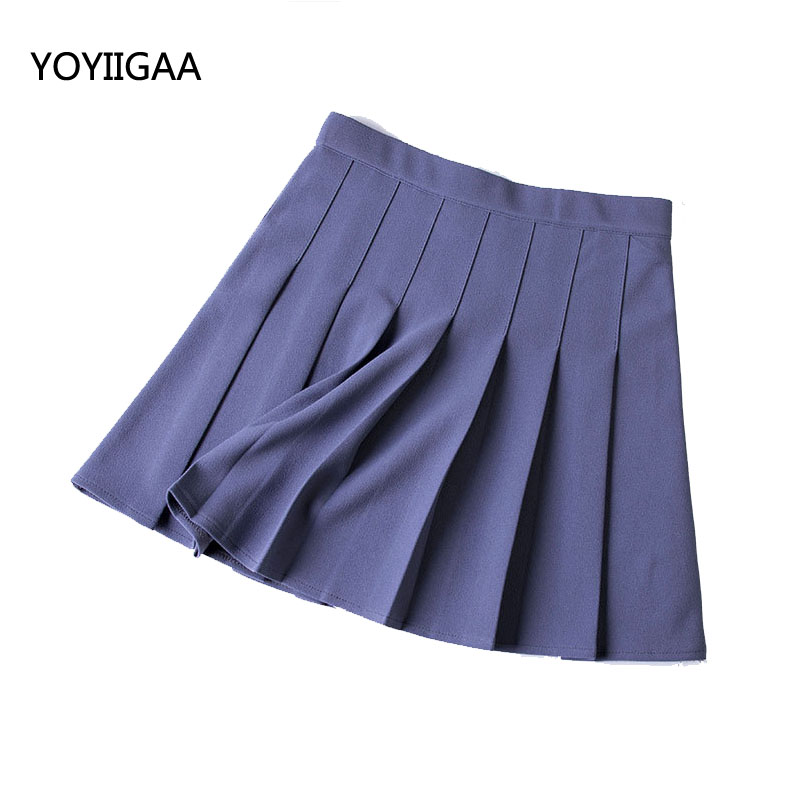 Summer Casual Solid Pleated Skirts Fashion Women Skirt Seven Color Sweet Girls High Waist A-Line Ladies Skirt for Woman Clothing