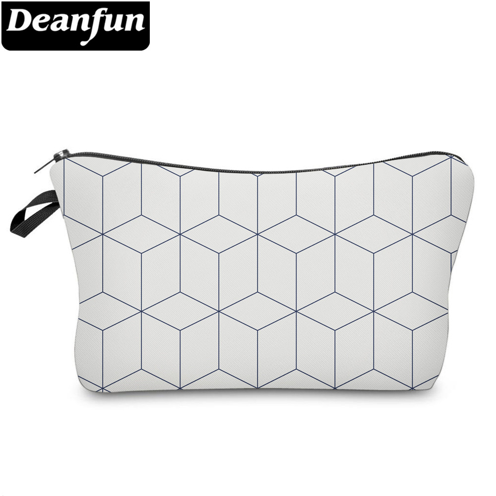 Deanfun Small Cosmetic Bags 3D Printed White Striped Bags Funny Designed Small Makeup Bag For Purse 51962