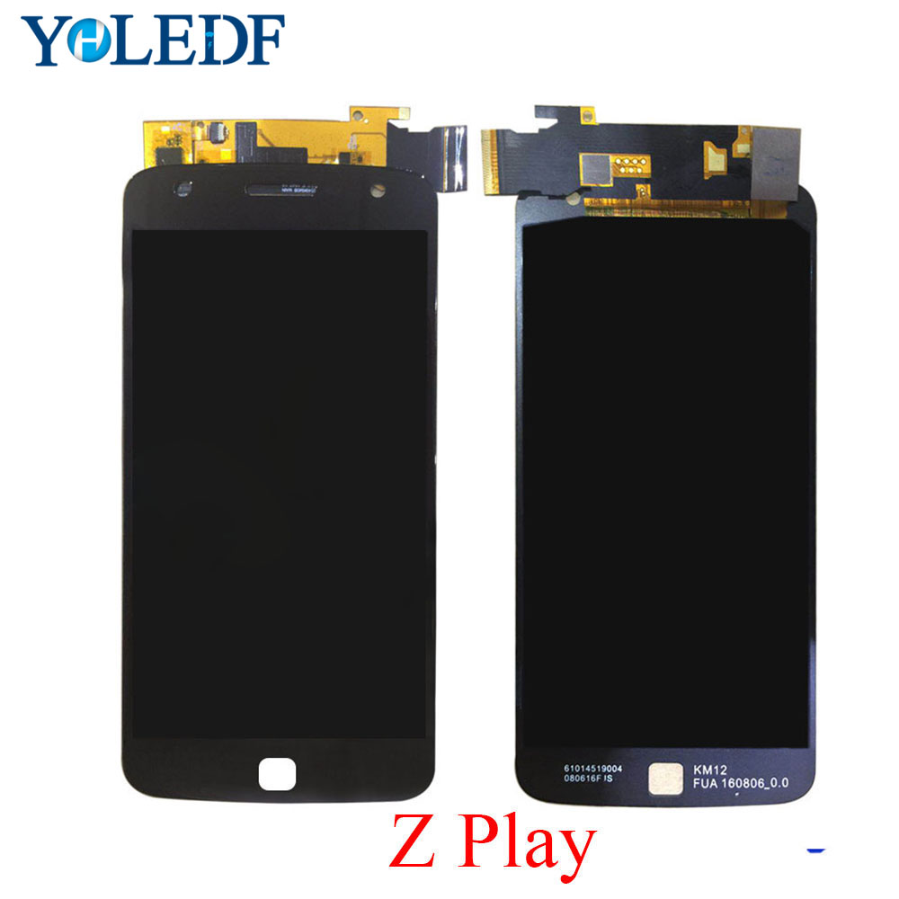 100% Tested Super <font><b>AMOLED</b></font> LCD For Motorola Moto Z Play <font><b>XT1635</b></font> Display Screen LCD Touch panel Digitizer Assemly replacement parts image