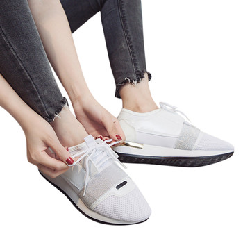 Fashion women's sneakers women shoes lace up shoes casual shoes woman low heel shoes women's stitching low-top sneakers #805