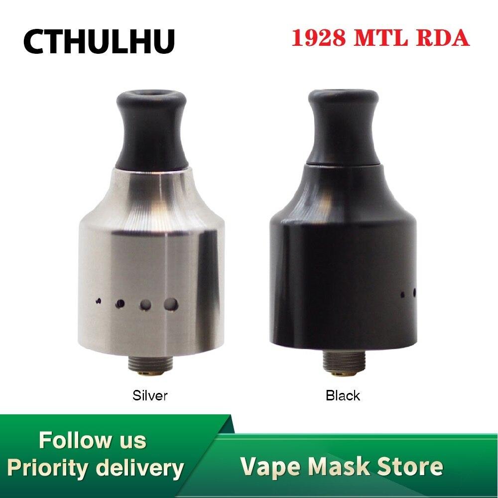 Горячая Распродажа, оригинальный испаритель Cthulhu 1928 MTL RDA 22 мм с одной катушкой RDA Vape Tank True MTL Vape Atomizer Vs Dead Rabbit V2 электронная сигарета испарител...