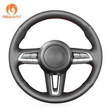 MEWANT Schwarz Künstliche Leder Auto Lenkrad Abdeckung für Mazda CX 30 CX30 2019 2020 Mazda 3 Axela 2019 2020