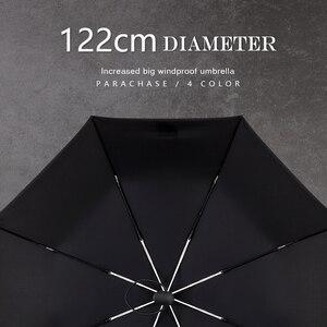 Image 4 - Parachase كبيرة التلقائي مظلة الرجال النساء يندبروف 8 الأضلاع الأعمال كبيرة للطي مظلة 122 سنتيمتر واضح الغولف المظلات Paraguas