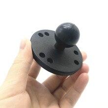 Alüminyum yuvarlak taban 1 inç topuz montaj kaidesi ile amper delik desen İş kameralar GPS akıllı telefon