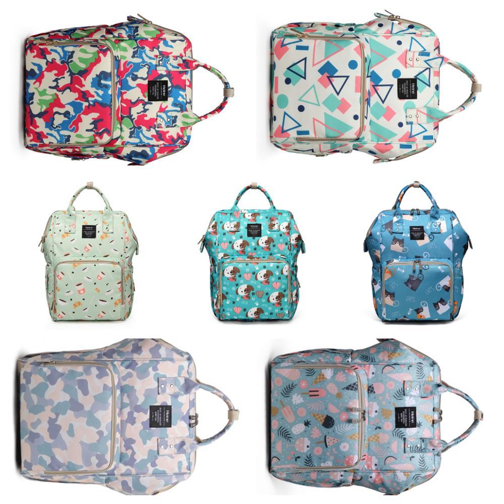 Puppy Printed Waterproof Diaper Bag Large Capacity Mommy Bag Multi-function Nappy Bag Women Nursing Travel Baby Care Backpacks
