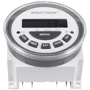 SINOTIMER Tm-619H-2 230Vac 7 дней в неделю программируемый таймер цифровой таймер переключатель освещения Выход 220V Напряжение с Пылезащитная крышка