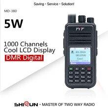 Двойное радио DMR, совместимое с Motorola Tier1/2 двухдиапазонное UHF VHF 5W TYT DMR, цифровая рация md380 Baofeng DMR