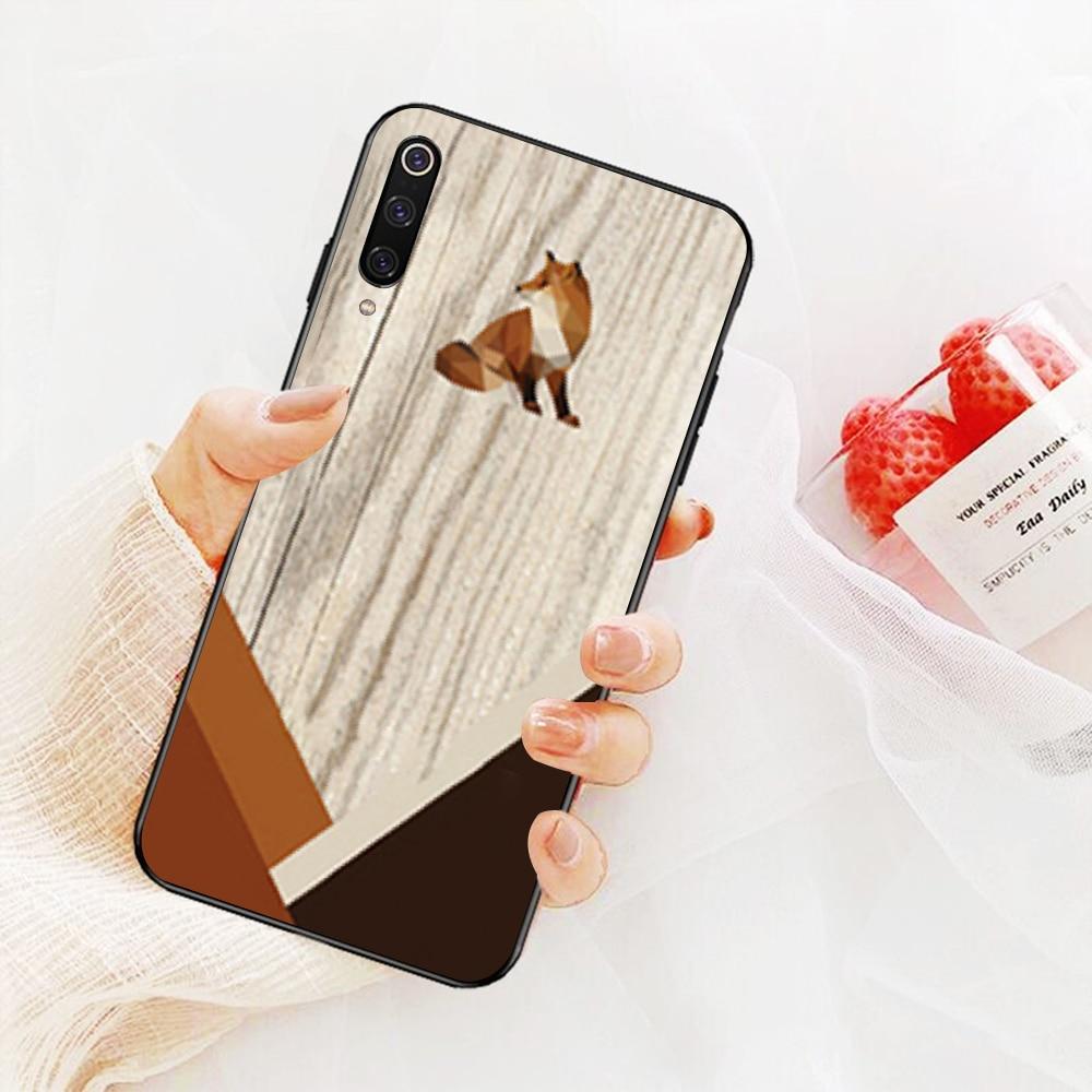 NBDRUICAI patrón texturas de madera Fox de diente de león Mandala funda de teléfono para Xiaomi 8 9 se 5X Redmi 6pro 6A 4X 7 5plus Nota 5 7 6pro