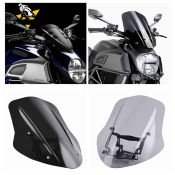 Windshield Windscreen Cover Wind Shield Deflector with Mounting Bracket  For Ducati Diavel 2014 2015 2016 2017 2018