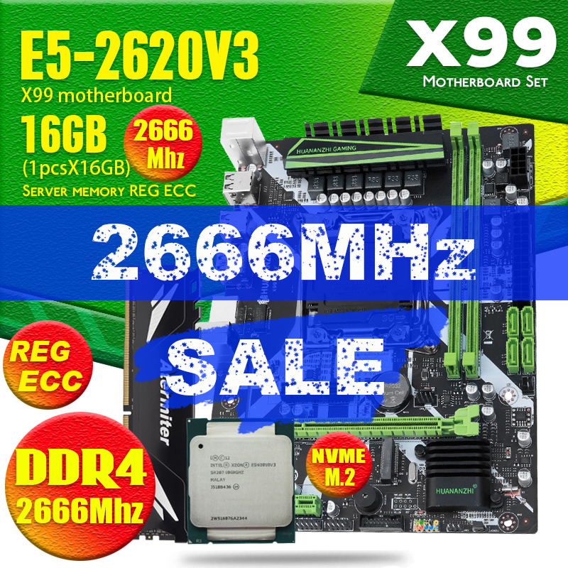 atermiter X99 ZX MINX9D4 D4 DDR4 motherboard set with Xeon E5 2620 V3 LGA2011 3 CPU 2 * 8GB = 16GB PC4 RAM 2400MHz DDR4 memory|Motherboards| - AliExpress