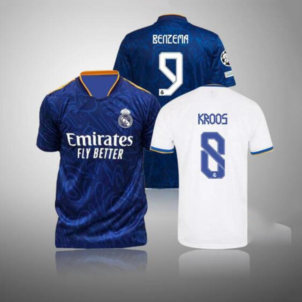21-22 Top Quality shirt MARCELO 2021 shirt JOVIC BENZEMA 2022 Real MadridES MODRIC new home away third HAZARD VALVERDE