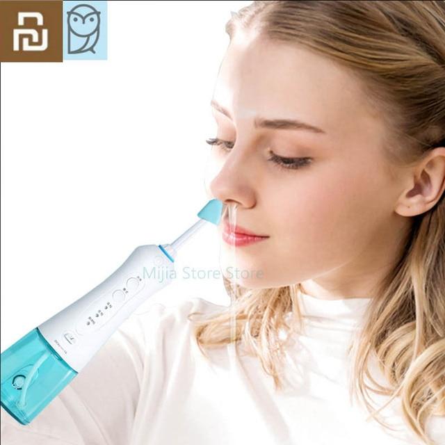 Youpin Miaomiaoce elektryczny irygator do nosa mycie 360 stopni obrót czysty nos alergiczny nieżyt nosa przekrwienie nosa kichanie H33