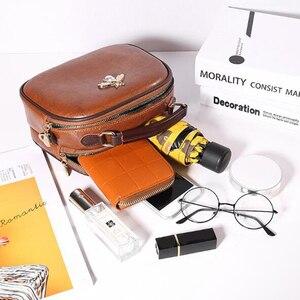 Image 3 - Luksusowy projektant kobiet torby Crossbody torba na ramię moda wisiorek z misiem, pszczoła ozdoba skórzana torebka damska torebki Bolsa