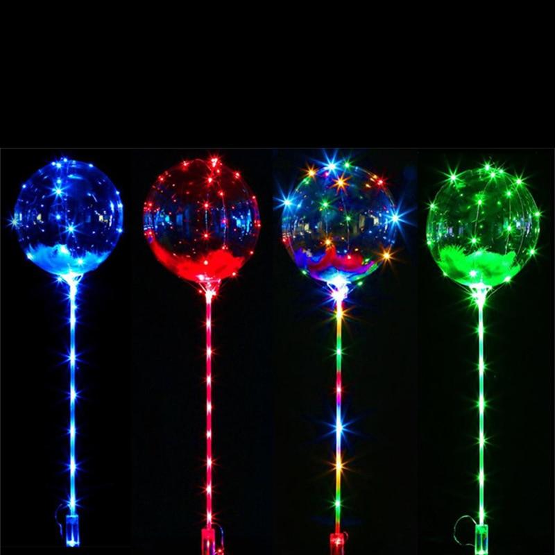 Charm Colorful Light Reusable Luminous Led Balloon Transparent Magic Bubble Balloon  Wedding Christmas Kids Toy Festival Decor