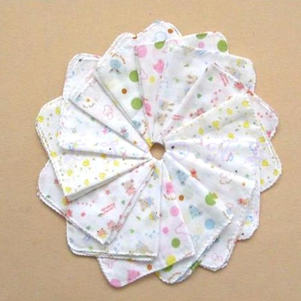 New Baby Cotton Feeding Towel Infants Handkerchief Gauze Nursing Clean Towel