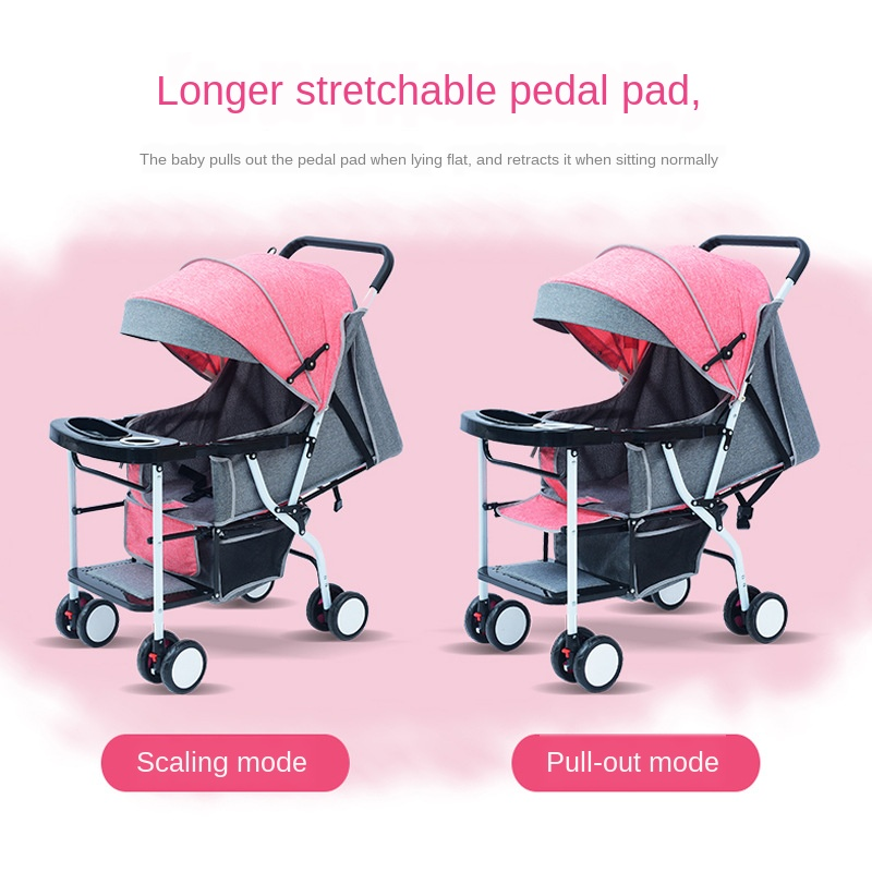 Dining chair baby stroller lightweight folding four seasons universal sitting baby 0-3 year old child four wheel trolley