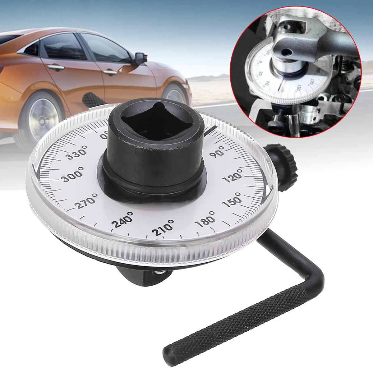 New Arrival 1 Set 1/2 Inch Adjustable Drive Torque Angle Gauge Auto Garage Tool For Hand Tools Wrench
