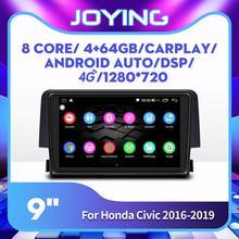4 64GB 8 Cores Android 8,1 Auto-Multimedia-Player HD 9'' IPS Bildschirm Radio Stereo Kopf Einheit für honda Civic 2016 2017 2018 2019