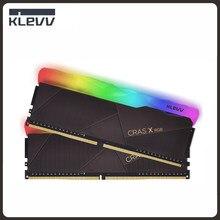 KLEVV CRAS X RGB DDR4 ram bellek 3200MHz 8GB 16GB DIMM Memoria Ram ddr4 288 Pin oyun bellek masaüstü için çift kanal
