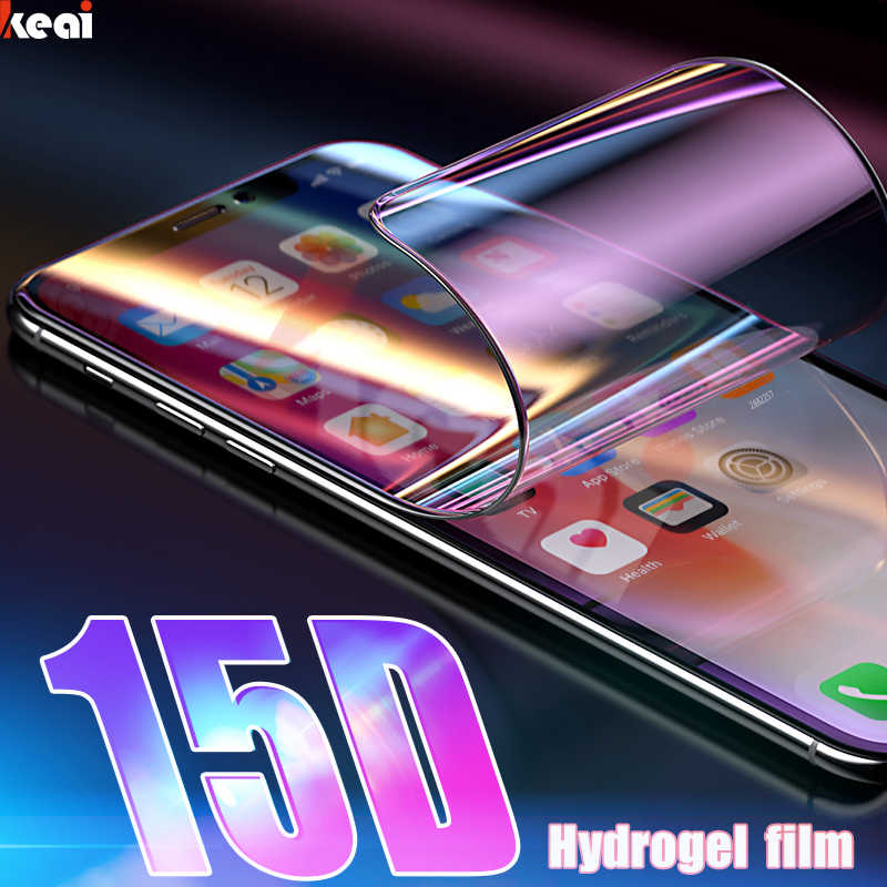 15D Full Cover Hydrogel Film For iPhone 11 Pro XR X XS MAX Screen Protector For iPhone 6S 6 7 8 Plus Soft Film Not Glass