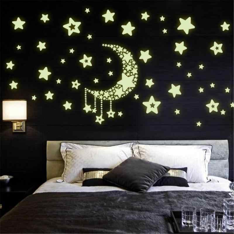 Luminoso Pegatinas de Pared,637Pcs Puntos luminosos Estrellas y Luna Pegatinas de pared Autoadhesivas Estrellas luminosas Beb/é Ni/ños Pegatinas de pared DIY para techo o paredes Estrellas brillantes