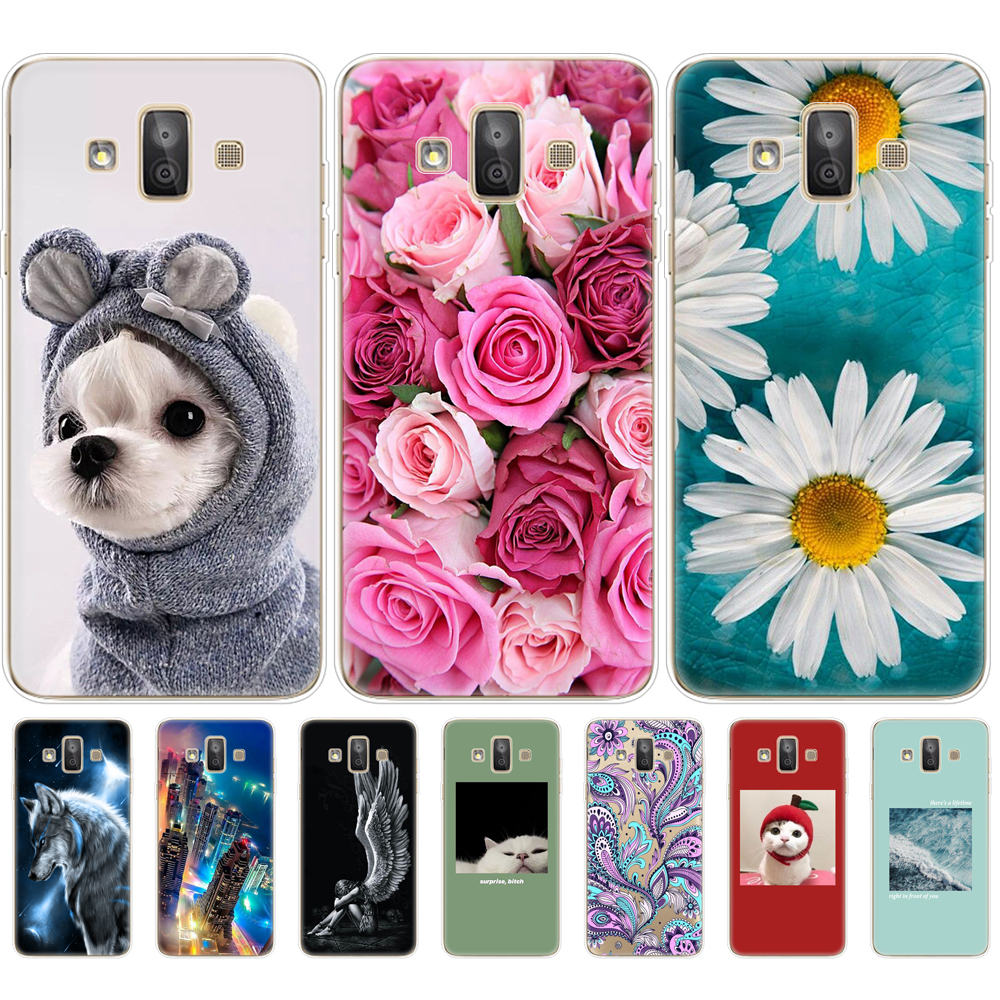For Samsung Galaxy J7 Duo 2018 Case Paint Silicone soft TPU back phone case Cover For Samsung J7 DUO SM-J720F J720 bumper coque
