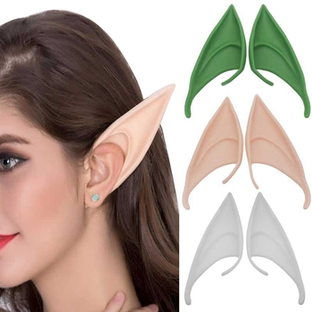 Alien Spock New Mysterious Angel Elf Ears Cosplay Accessories Halloween Mask Latex Party Prosthetic Anime Elf Ears Fairy image