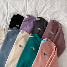 2020 novo além de veludo grosso bordado camisa de manga comprida para homem e mulher hoodies moletom com capuz oversized