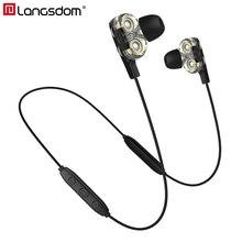 Langsdom BD34 หูฟังบลูทูธไร้สายHifi Bass Bluetoothหูฟังพร้อมไมโครโฟนสำหรับXiaomi Auriculares Fone De Ouvido
