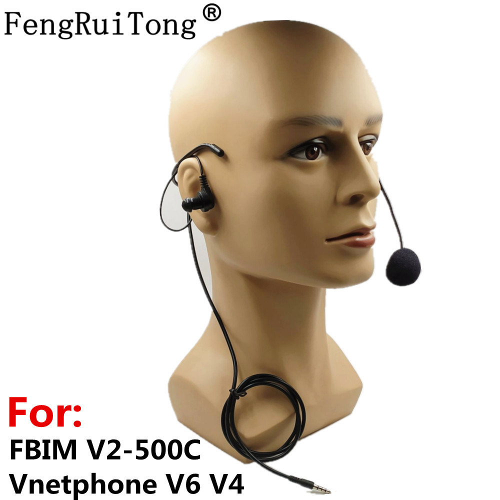 Referee Earhook Headphone 3.5mm Jack Headset For Vnetphone V6 V4 FBIM V2-500C Motorcycle Bluetooth Intercom BT Interphone