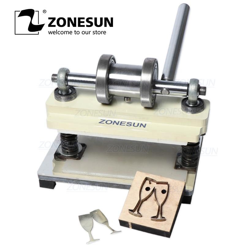 ZONESUN Manual Leather Die Cutting Machine Handmade Earring Die Cuts Pressing Machine For Custom Clicker Die Steel Rule Die