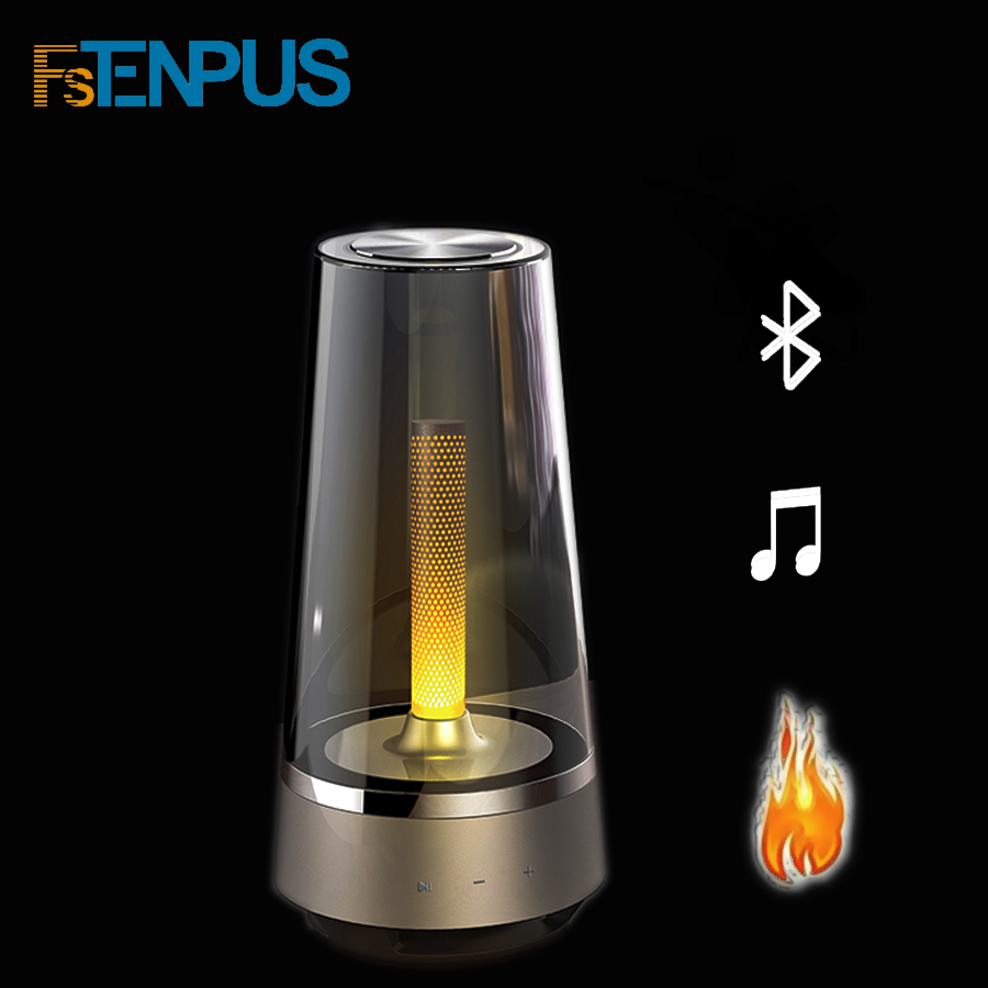 FSTENPUS HOT Candle Light Bluetooth Speaker Control Led Night Light,Atmosphere Light Breathing Lamp For Your Phone