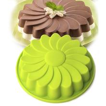 8 cal okrągła silikonowa forma do ciasta pieczenie w piekarniku narzędzia do ciasta szyfonowego formy (kolory losowe) tanie tanio Leeseph Muffin patelnie Ce ue Naczynia do pieczenia i patelnie Ekologiczne Zaopatrzony LX0052 SILICONE 23*23*23cm Silicone 8 inch rhodium