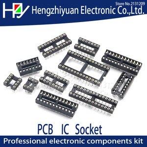 IC Sockets DIP8 DIP14 DIP16 DIP18 DIP20 DIP28 DIP40 Pins Round Hole 2.54 PCB Connector DIP Socket 6 8 14 16 18 20 28 32 40 pin(China)