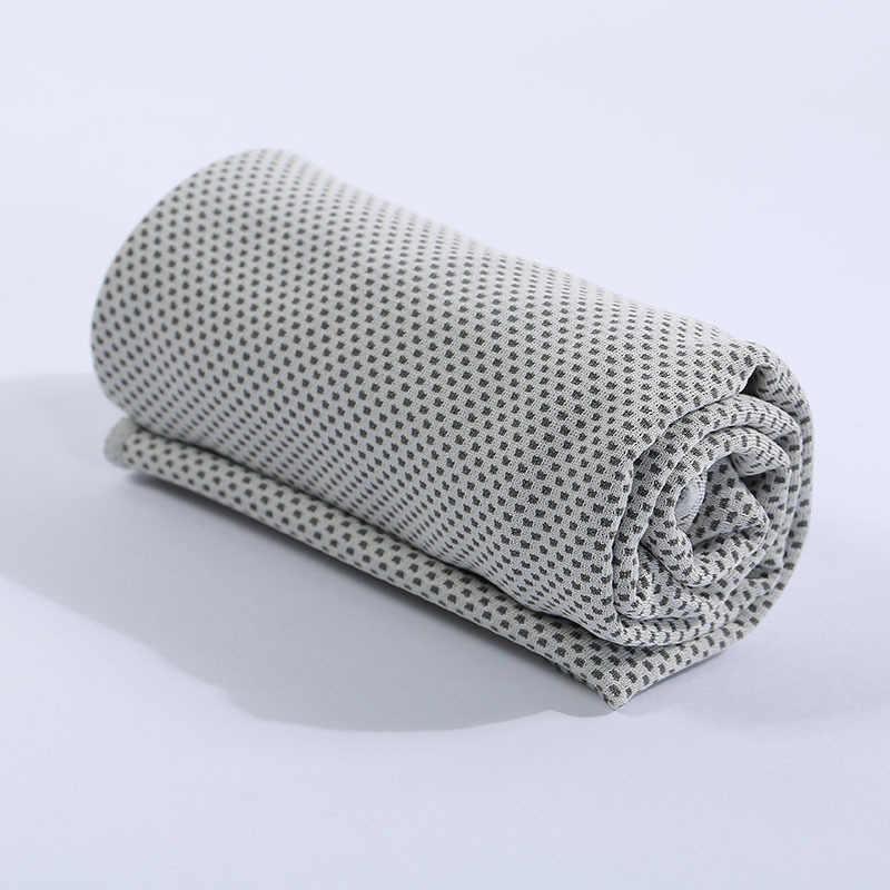 Serviette de natation en microfibre sport glacé serviette à séchage rapide visage de gymnastique serviette de Yoga multicolore Fitness glace Cool grille serviette de Camping