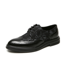 Formal Shoes Flats Brogue-Style Oxfords Handmade Paty Men